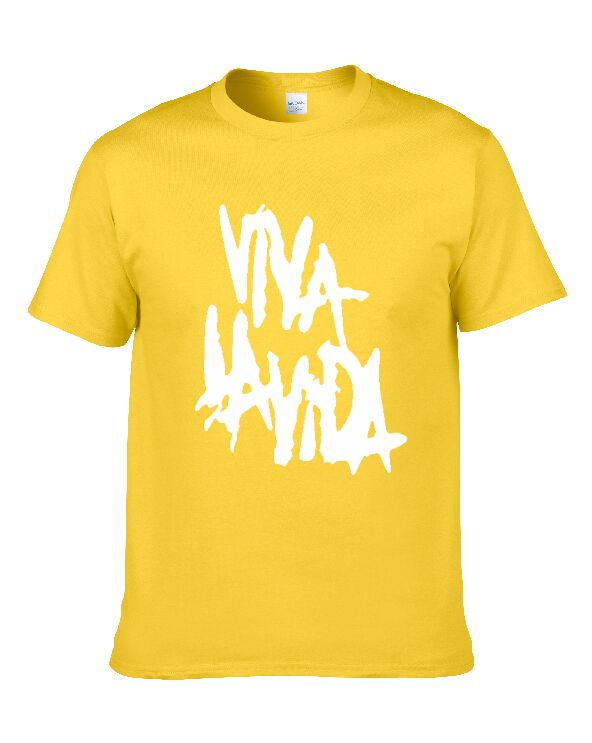 New Summer Fashion Men T Shirt Cotton Rock-coldplay-Viva-la-vida Printing Casual T-Shirt Male Tops Shirt 8colour