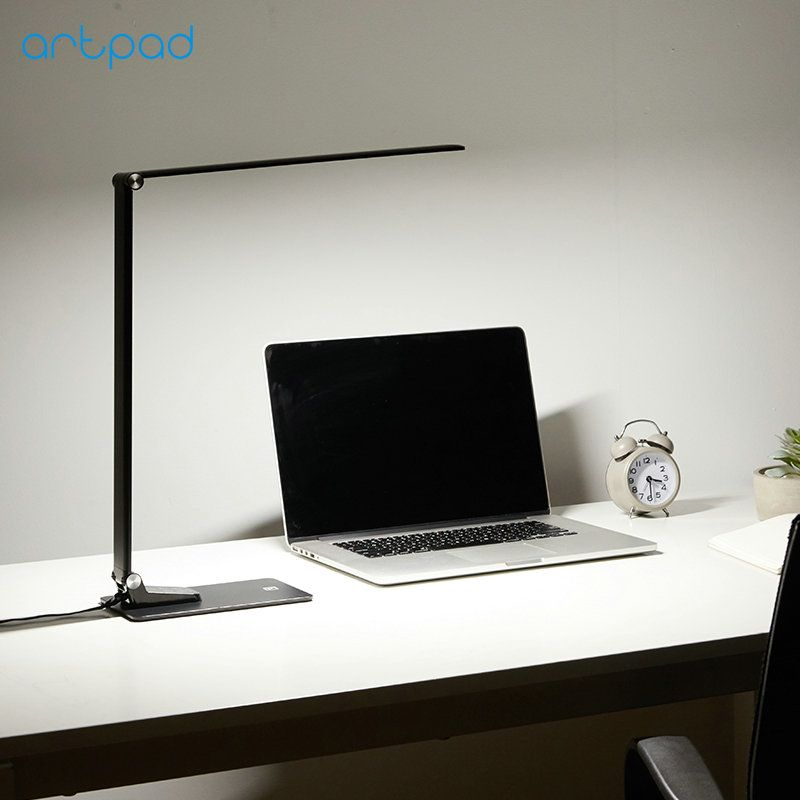 Artpad Super Thin 12W 6 Brightness 5 Color Temperatures Touch Dimmer USB Charge Phone LED Foldable Work Desktop Lamp for Reading