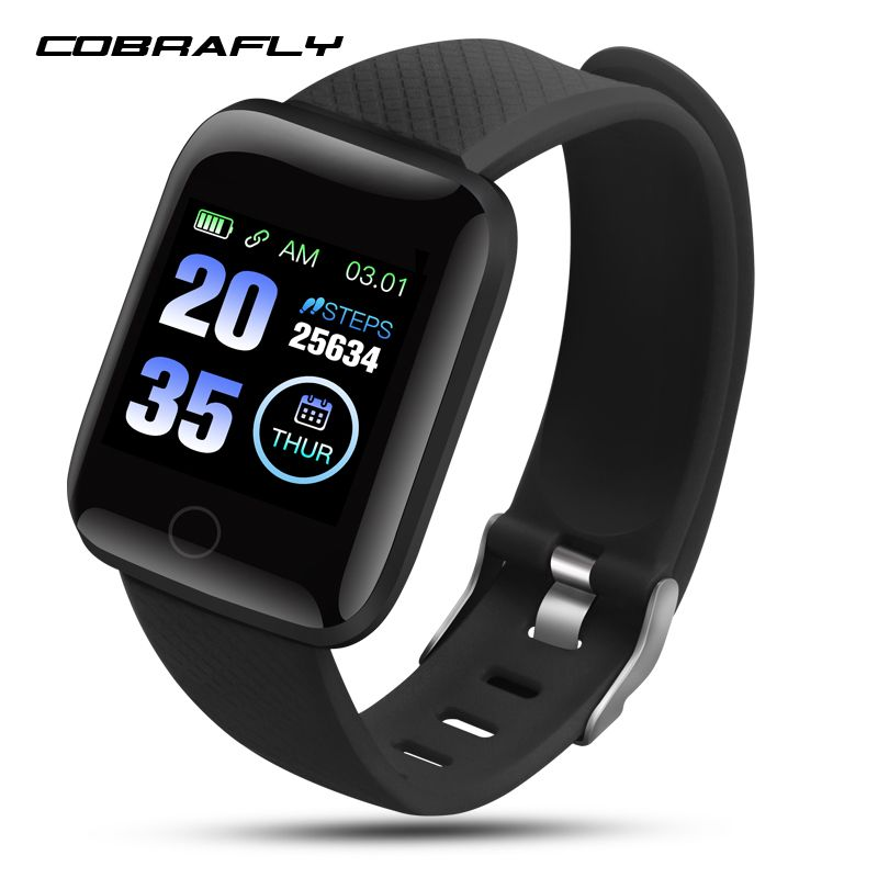 Cobrafly 116 Plus smart band blood pressure heart rate monitor smart watch band fitness tracker waterproof Android IOS smartband