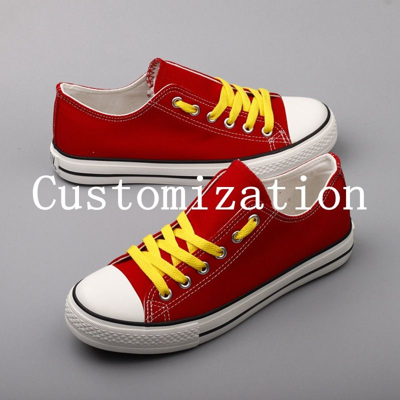Fashion Printed College Students Fans Canvas Shoes Customized Low Top Casual Flats Designer Team Logo Tenis Espadrille Zapatos