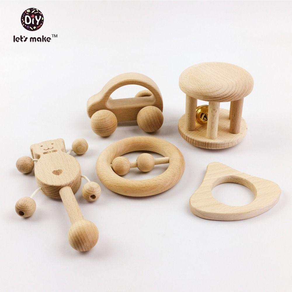 Faisons des jouets de Puzzle intellectuels enfants Montessori jouets ensembles soins infirmiers en bois hochets bébé amusant et intéressant bébé jouets