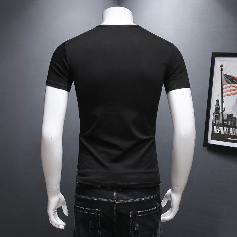 OS explore the space Black Casual shirt Boys T shirts Men astronaut 2018 Cotton Tops Tees Loose Short Funny Man's