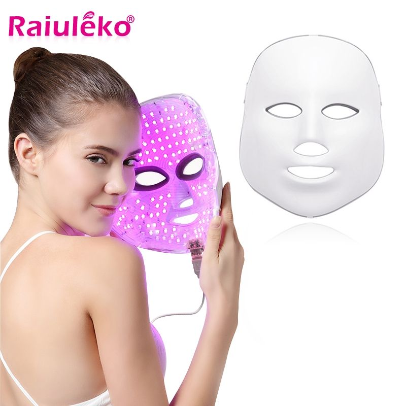 7 couleurs Led masque Facial beauté soins de la peau rajeunissement rides acné enlèvement visage beauté thérapie blanchiment serrer Instrument