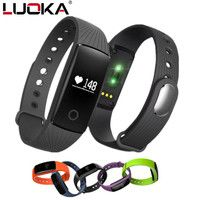 LUOKA Smart bracelet Heart Rate Monitor Wristband Fitness Bracelet for Android iOS PK xiomi mi Band 2 fitbits smart ID107