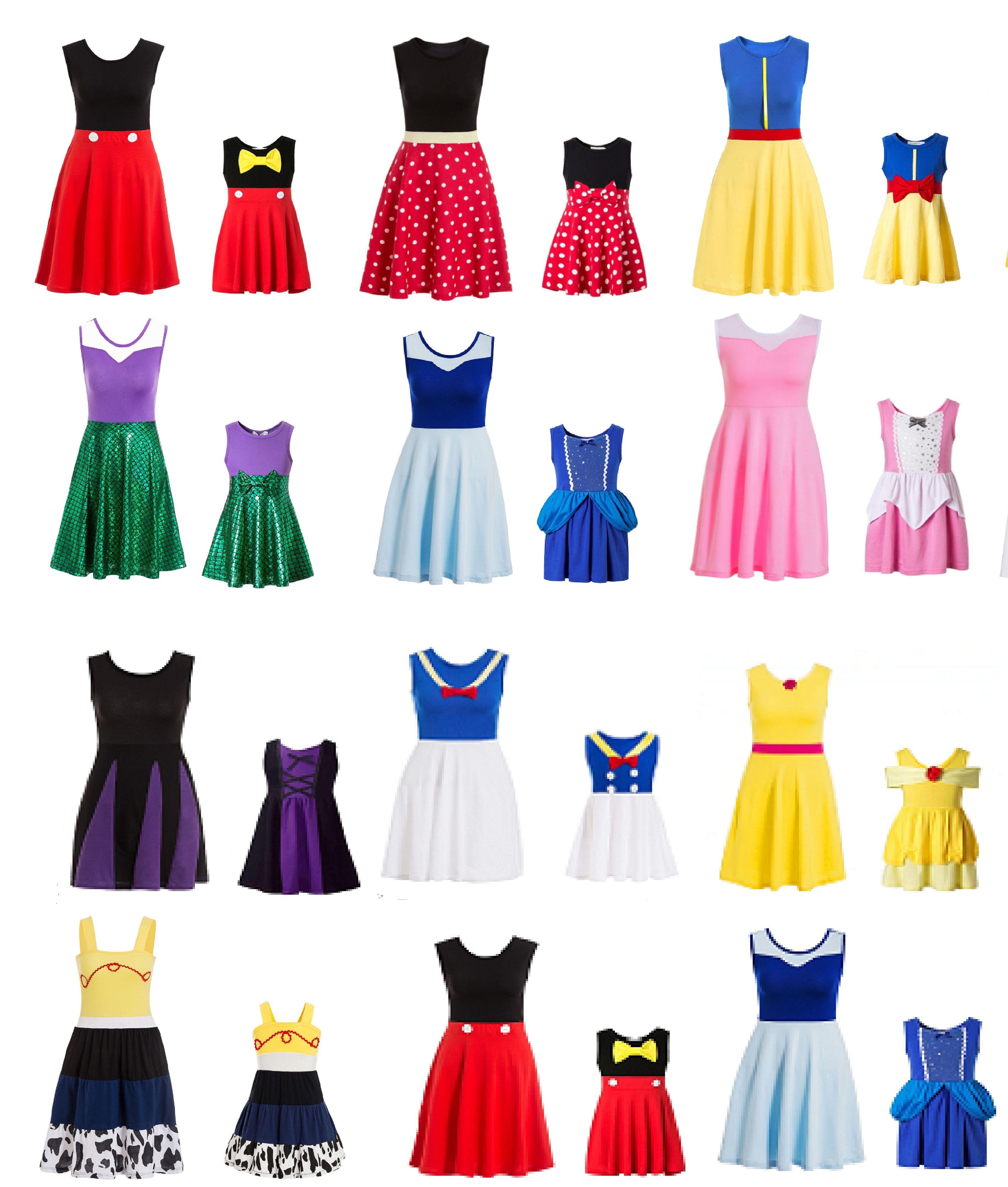 Taille adulte maman robe de princesse Minnie maman et moi correspondant famille cosplay Costume grande taille robe de princesse femme à pois