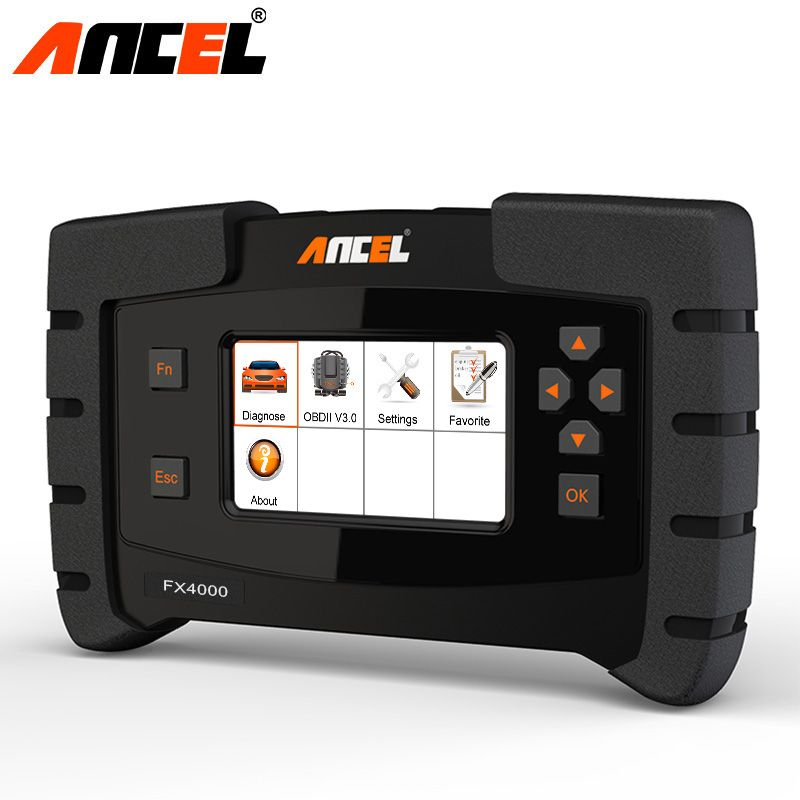 Ancel FX4000 Automotive Scanner OBD 2 Auto Engine ABS SRS SAS Gearbox TPMS EPB Audio DPF Reset All Systems Diagnsotic OBD2 Tool