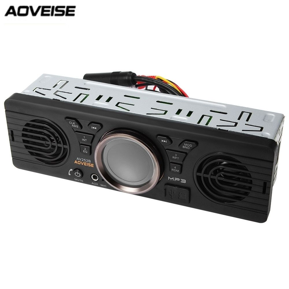 AV252B 12V Bluetooth 2.1 + EDR Vehicle Electronics In-dash MP3 Audio Player Car Stereo FM Radio with USB/TF Card Port