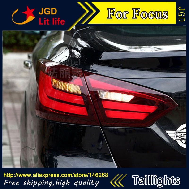Car Styling tail lights for Ford Focus 2012 LED Tail Lamp rear trunk lamp cover drl+signal+brake+reverse