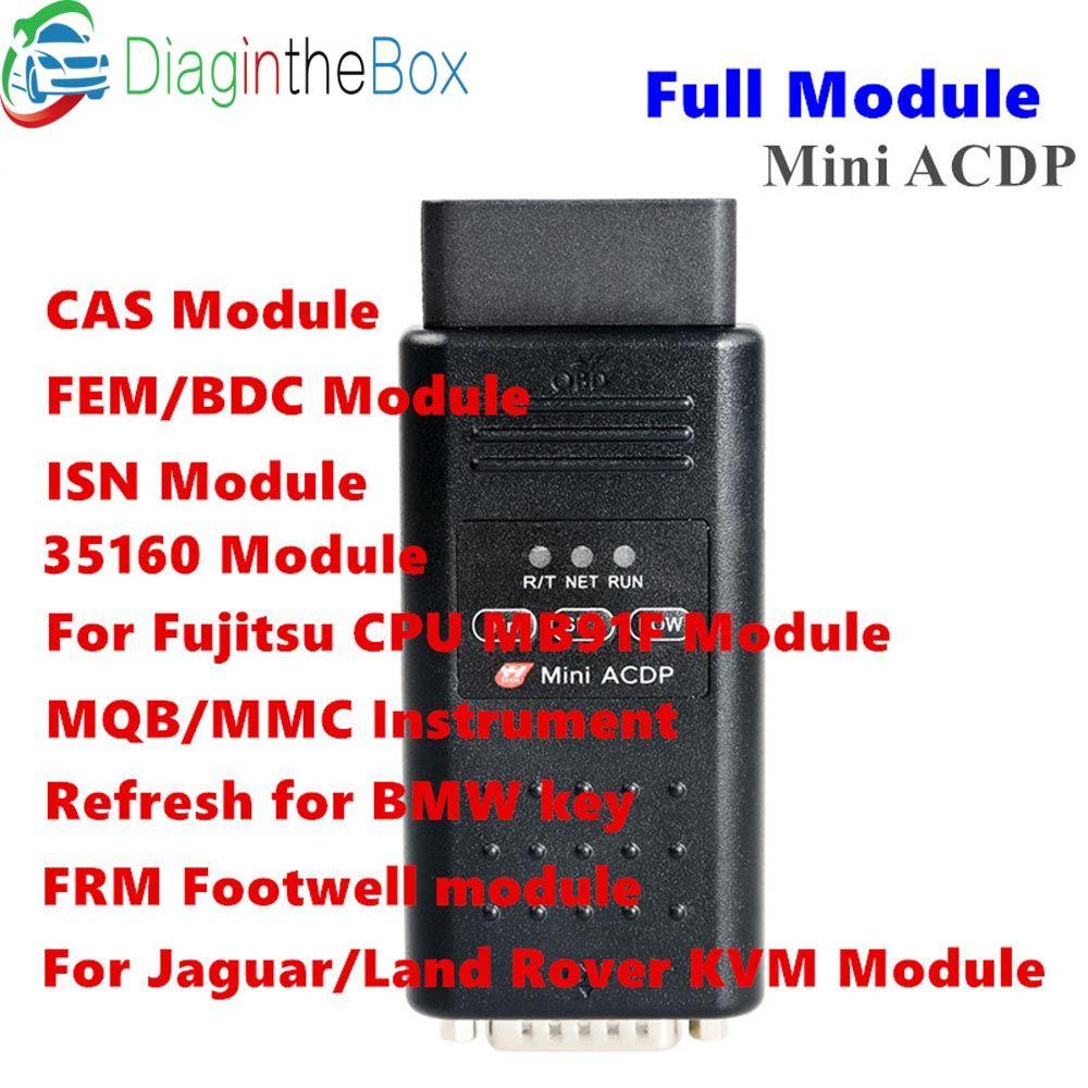 Yanhua Mini ACDP mit volle modul Programmierung Master WIFI Für BMW CAS1-CAS4 + FEM BDC Schlüssel Programmierer IST Code Lesen und Schreiben