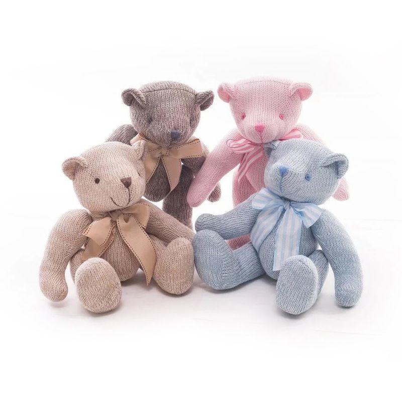 Mignon belle Creative tricot ours en peluche poupée bébé jouets décoration de mariage cadeau pour enfants enfants 1 pc 11in