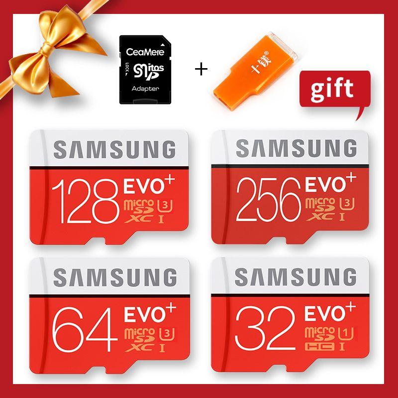 SAMSUNG 100% D'origine Véritable EVO Plus Cartes Microsd Carte Mémoire 256G 128 GB 64 GB 32 GB 16 GB 8 GB Class10 Micro SD TF Flash Carte