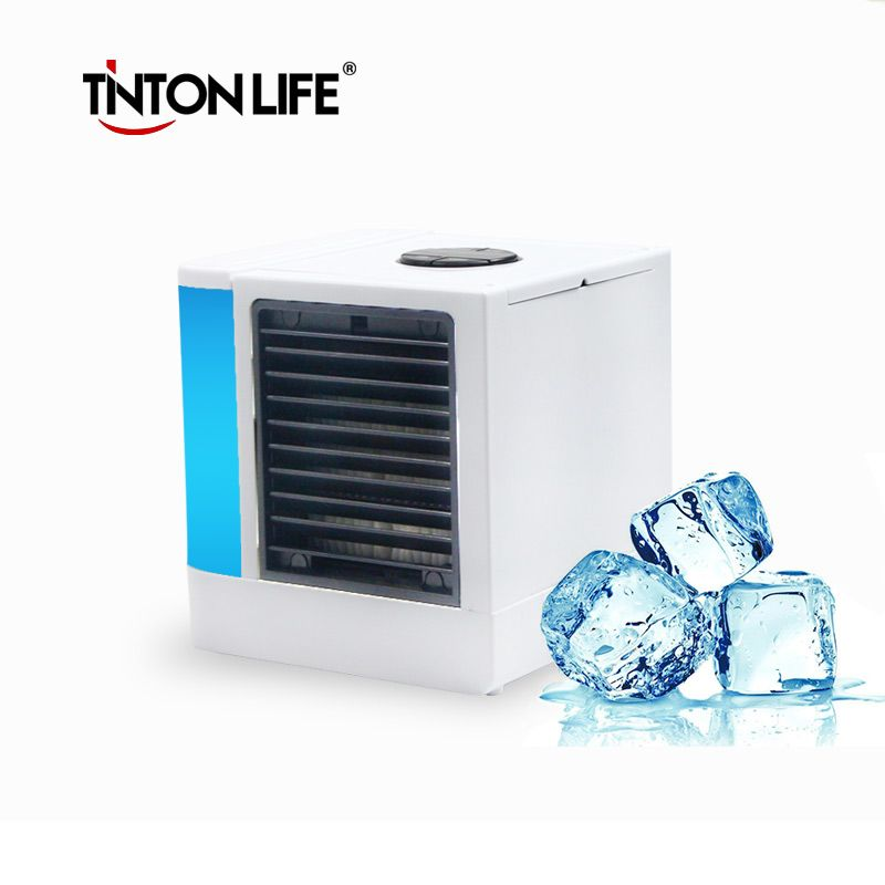 TINTON LIFE USB Portable Electric Fans Air Conditioner Air Cooler Mini Fan Table Fan Cooling For Home Office