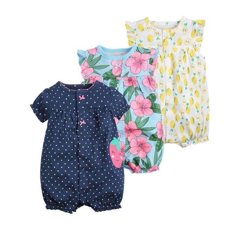 2018 orangemom bébé fille vêtements d'une seule pièces combinaisons bébé vêtements, courtes en coton barboteuse infantile fille vêtements roupas menina