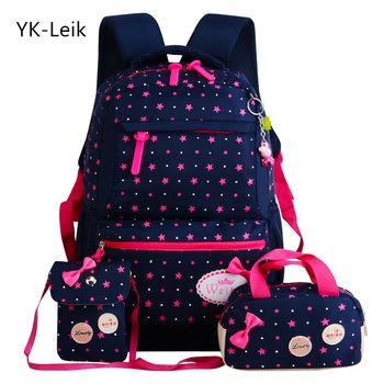 YK-Leik Étoiles Impression Enfants Sacs D'école Pour Les Filles Adolescents À Dos Enfants Orthopédie Cartables Sac À Dos mochila infantil