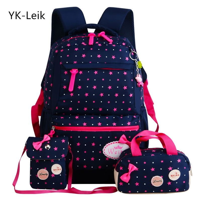 YK-Leik <font><b>Star</b></font> Printing Children School Bags For Girls Teenagers Backpacks Kids Orthopedics Schoolbags Backpack mochila infantil