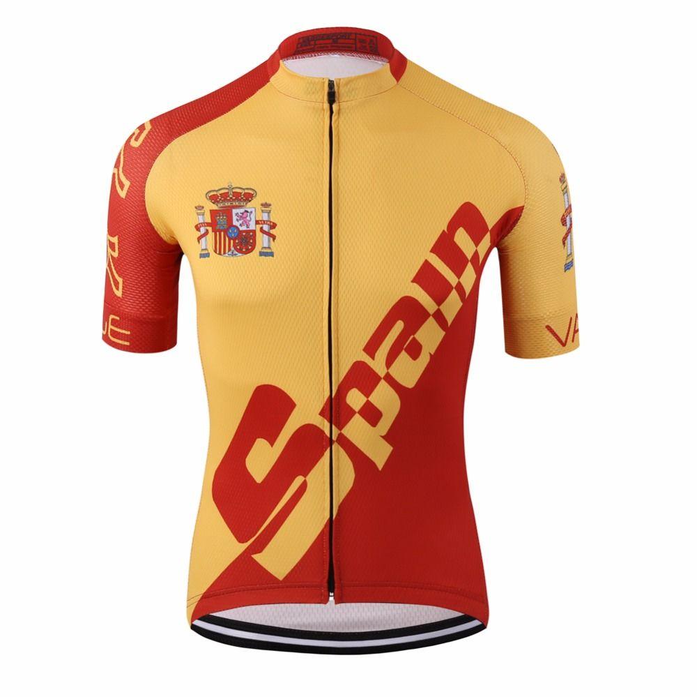 Pro Tour Spain brand Cycling Jersey Wear Racing Ciclismo Cycling Apparel Kit <font><b>Road</b></font> Compression Digital Printing Uv Bicycle Shirts