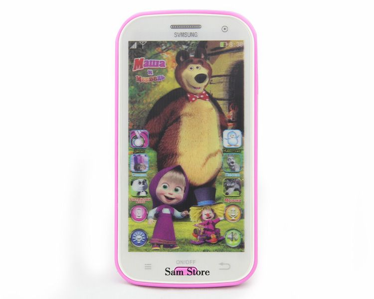 Talking Masha and Bear dolls Samsung Learning & education Russian Language Baby doll Electronic Classic kid's Toy phone No Box