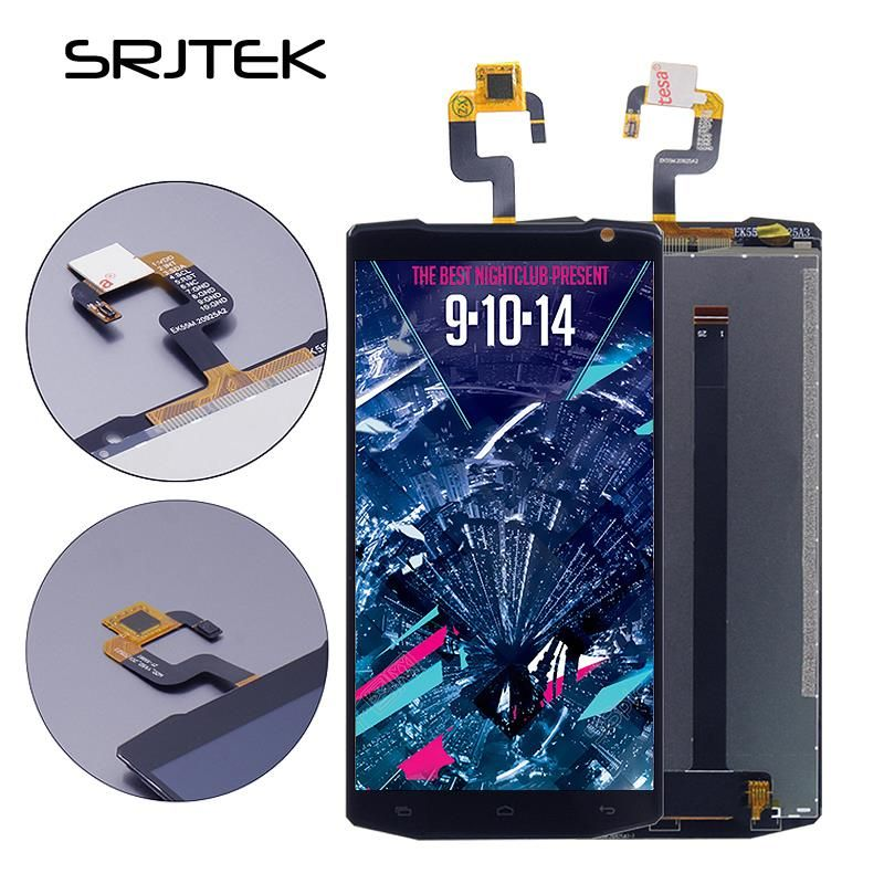 Srjtek 5.5 for oukitel k10000 k 10000 black lcd display + touch screen Glass Panel Digitizer assembly Replacement Black