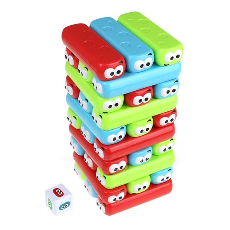 New plastic Blocks Jenga Party Tumbling Tower Fun Toys for Kids Interactive Stack Game Teaser Block Baby Educational Toy