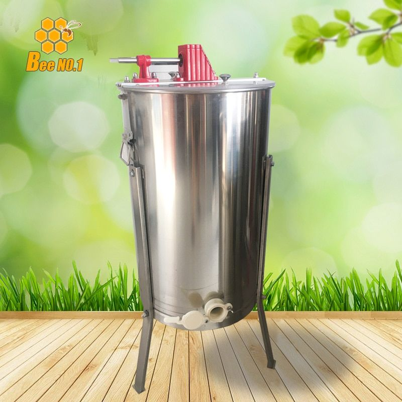 Exported Quality 2 Frame Manual Honey Extractor Beekeeping Equipment 201 Stainless steel