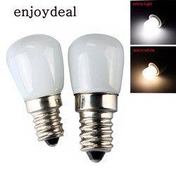 1 PC Mini Energiesparende Kühlschrank Licht E14 E12 110 V 220 V LED Lampe 2 W Scheinwerfer-birnen Gefrierschrank warm Weiß/Weiß Licht