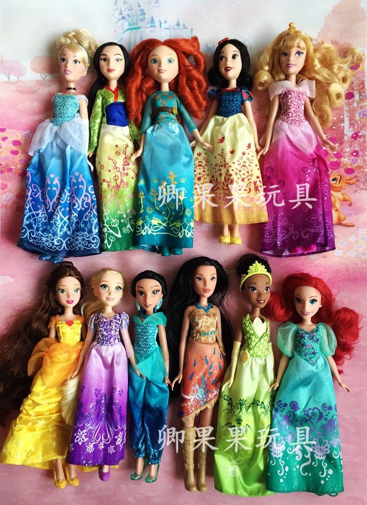 Rapunzel Poupées Princesse Poupée Blanche-Neige Ariel Belle Rapunzel Poupées Pour Les Filles Brinquedos Jouets Pour Enfants Enfants Jouets