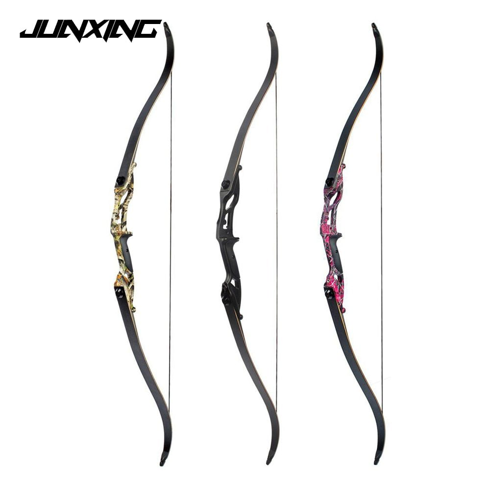 3 Color 30-50lbs Recurve Bow 56 Inches American Hunting Bow with 17 inches Riser for Archery Hunting Shooting