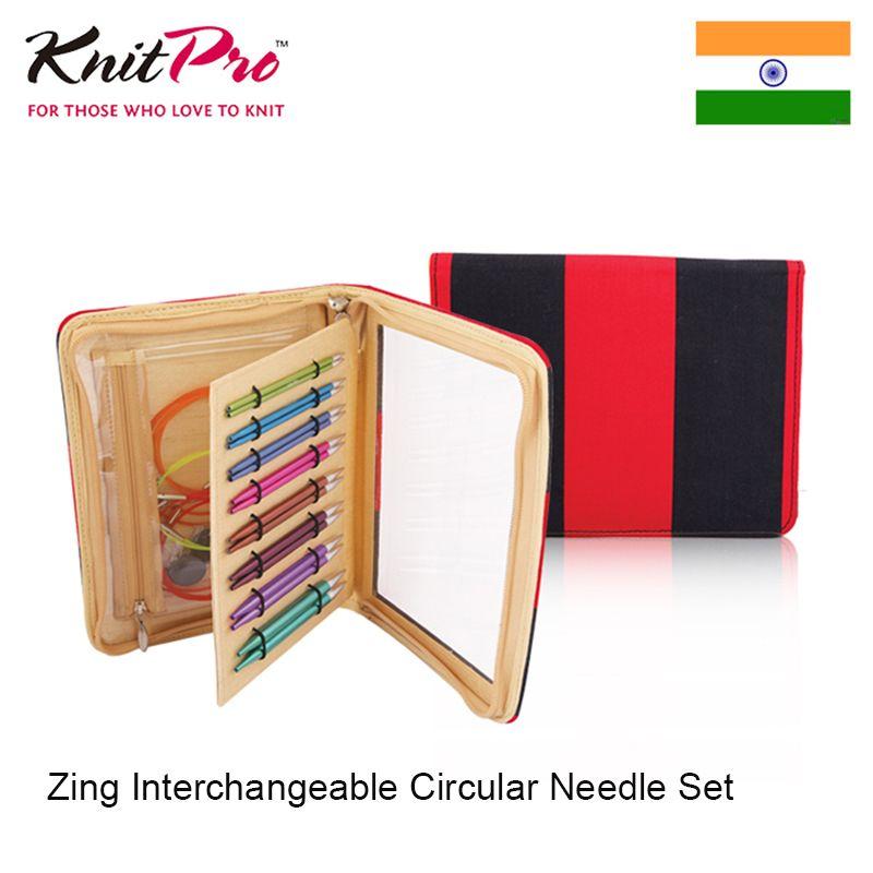 Knitpro Zing Interchangeable Circular Needle Set