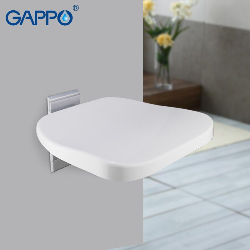 GAPPO Wall Mounted Shower Seat folding bench for children toilet folding shower chairs Bath shower Stool Cadeira bath chair