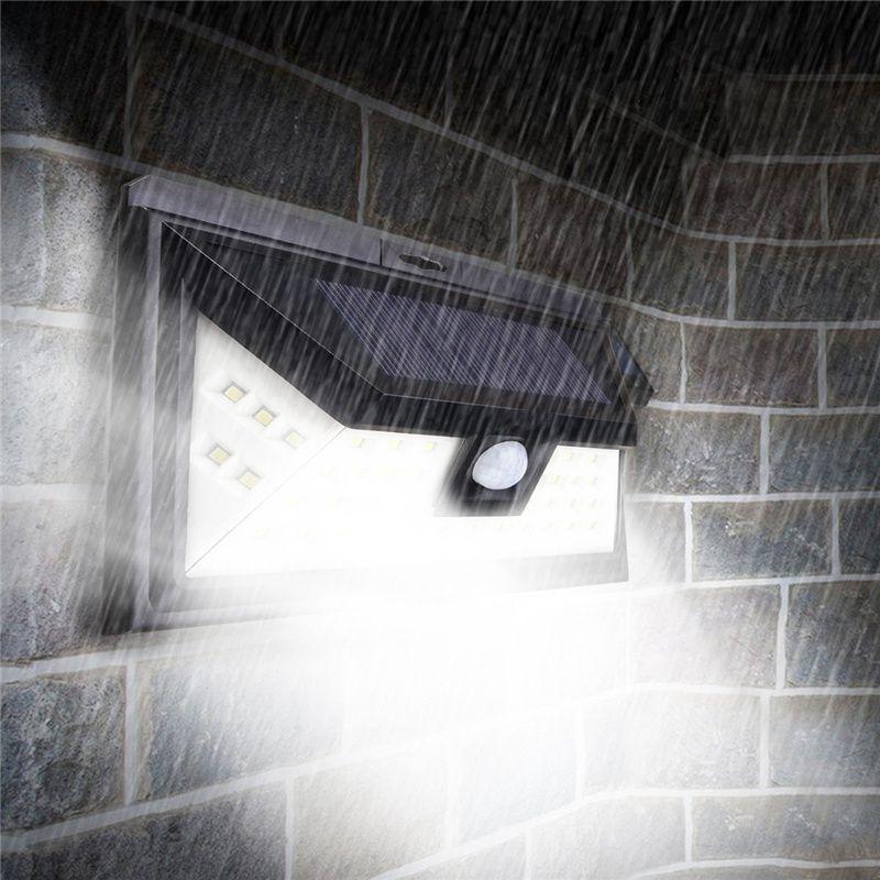 Waterproof IP54 PIR Motion Sensor LED Solar Light Solar Powered Outdoor LED Garden Light Security Pathway Emergency Wall Lamp