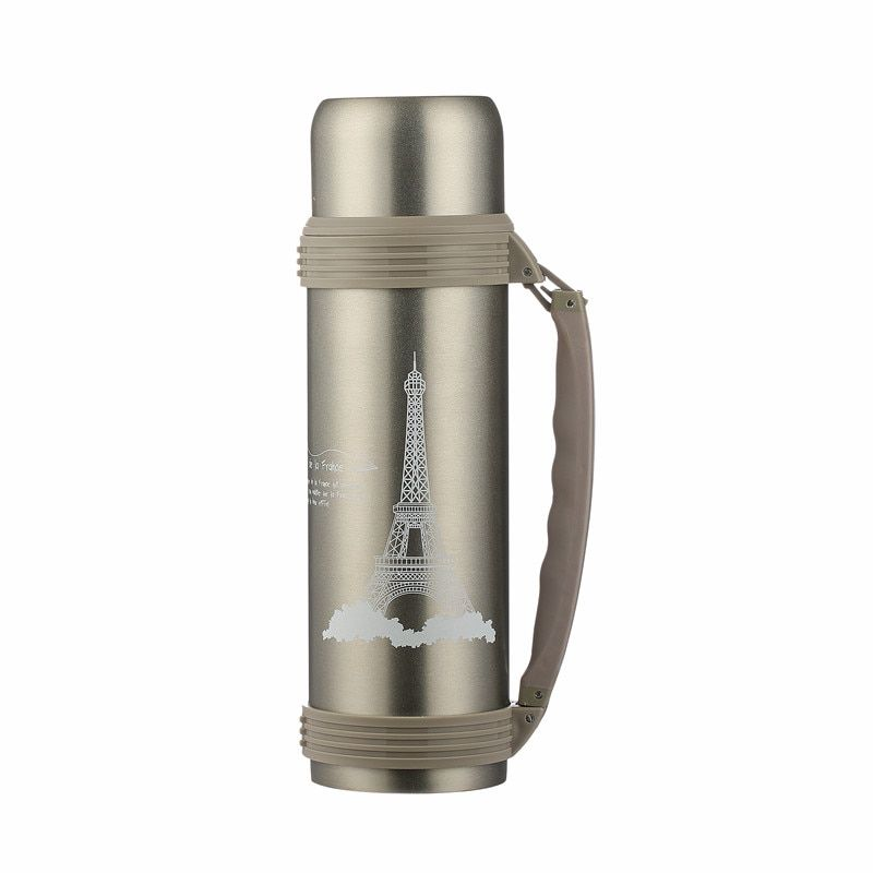 1.9L 1.5L Thermocup with Double Wall Vacuum Flasks Thermoses Tower Large Capacity Thermo Coffee Mug Travel Vacuum Flask Keep Cup