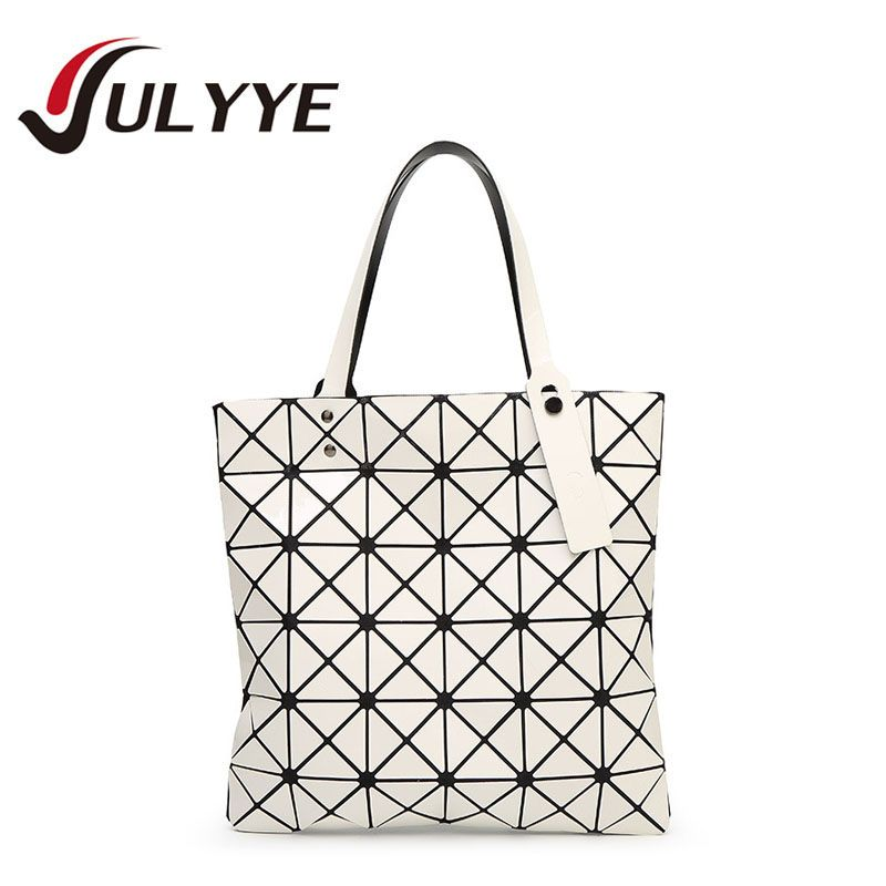 YULYYE Brand Designer Women Fashion BAO BAO Bag Geometry Sequins Laser Plain Handbag Folding Tote Women Messenger Shoulder Bags