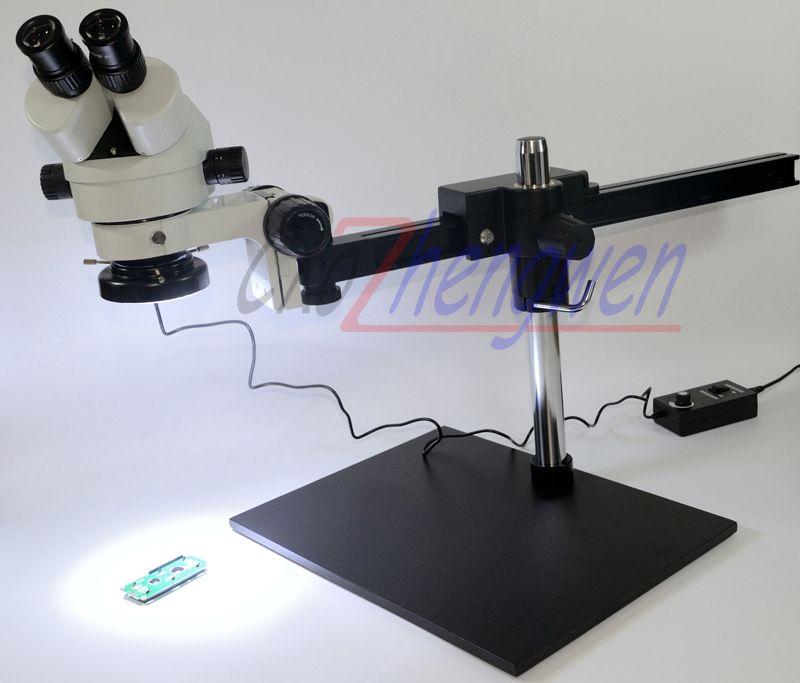 FYSCOPE Professional 7X~45X Binocular Guide Stereo Zoom Microscope PCB Inspection Microscope + 60pcs led light