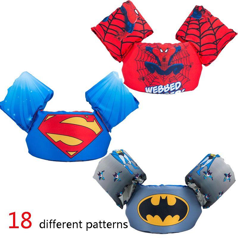 kids baby life vest Superman batman spiderman swimming boys <font><b>girls</b></font> jacket fishing superhero swimming circle pool accessories ring