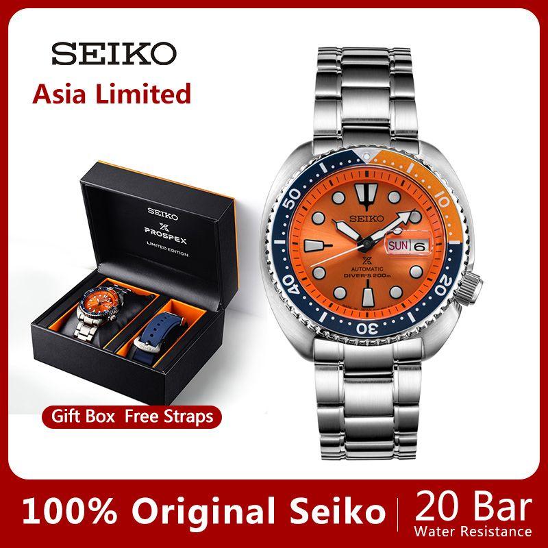100% Original SEIKO Uhr Automatische Mechanische Taucher Wasserdicht Leucht Men'sWatch Asien Limited Edition SRPC95J Globale Garantie