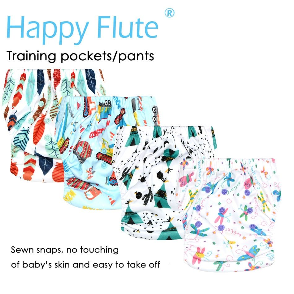 HappyFlute OS Training Pants & Pocket Diaper for Baby, S M and L adjustable,waterproof and breathable