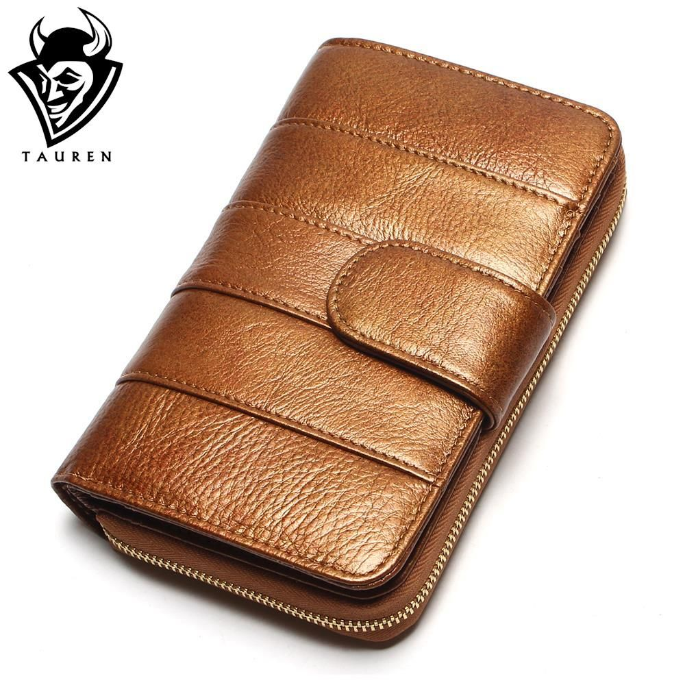 2017 New Style Women Wallets Brand Design High Quality Genuine Leather Wallet Female Hasp Fashion Dollar Price Long Women Wallet
