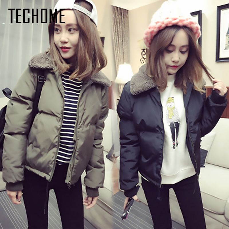 2017 Winter Jacket Women Plus Size XXL Womens Parkas Thicken Outerwear Solid  Coats Short Female Slim Cotton Padded Basic Tops