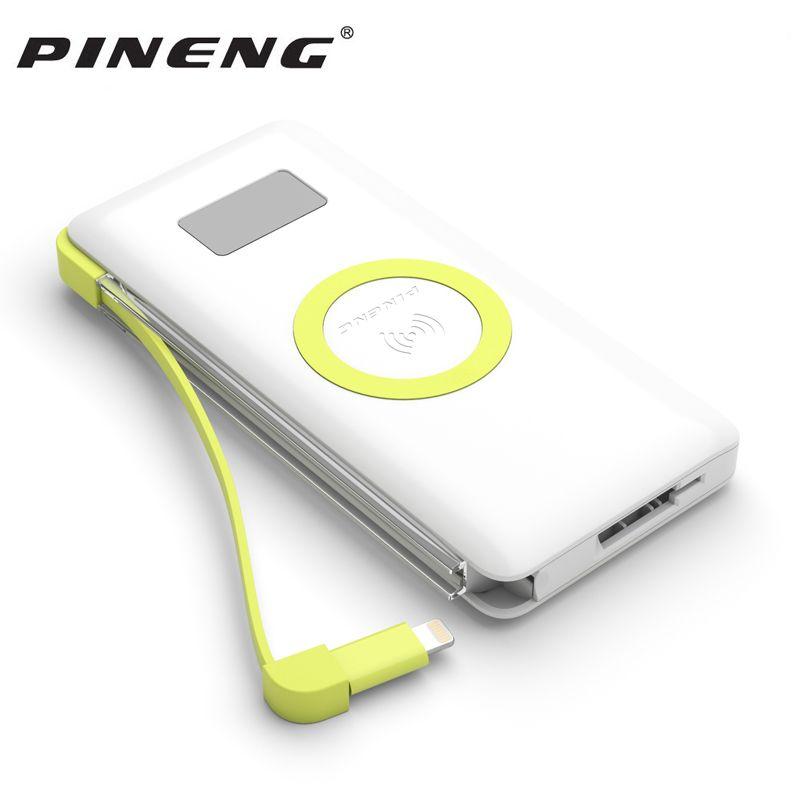 Pineng 10000 mah Puissance Banque PN-888 Portable Batterie Mobile Li-Polymère PowerBank Soutien Sans Fil Charge Rapide 3.0 Pour iphoneX