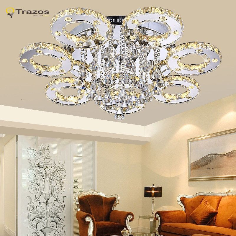 Modern Led Crystal  Ceiling Lights For Living Room luminaria teto cristal Ceiling Lamps For Home Decoration Free shipping