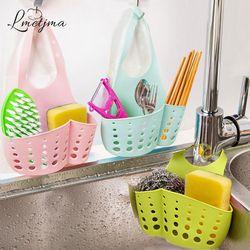 LMETJMA Kitchen Sponge Holder Draining Rack Sink Sponge Holder Bathroom Storage Shelf Sink Holder Drain Basket PYBI121403