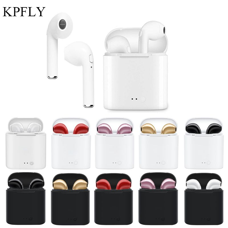 KPFLY i7S TWS Mini Wireless Headphones Bluetooth Earphone Stereo Earbud Camo Headset With Charging Box Micphone Sport For iPhone