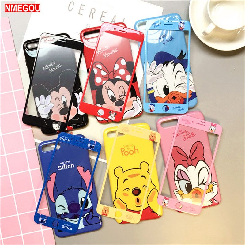 Luxury Cartoon Mickey Minnie Mouse Case for IPhone 6 6s 7 8 Plus Cover Phone for IPhone X XR XS Max Cases Daisy Duck Soft Case