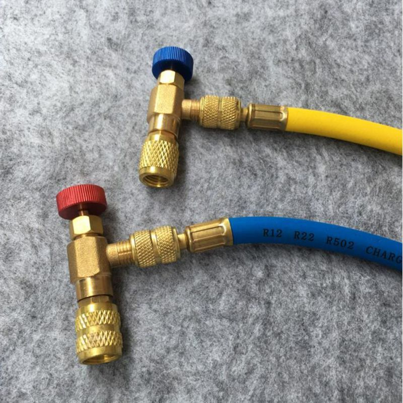 2Pcs Safety Valve R410A R22 Air Conditioning Quick Coupler Connector Adapters