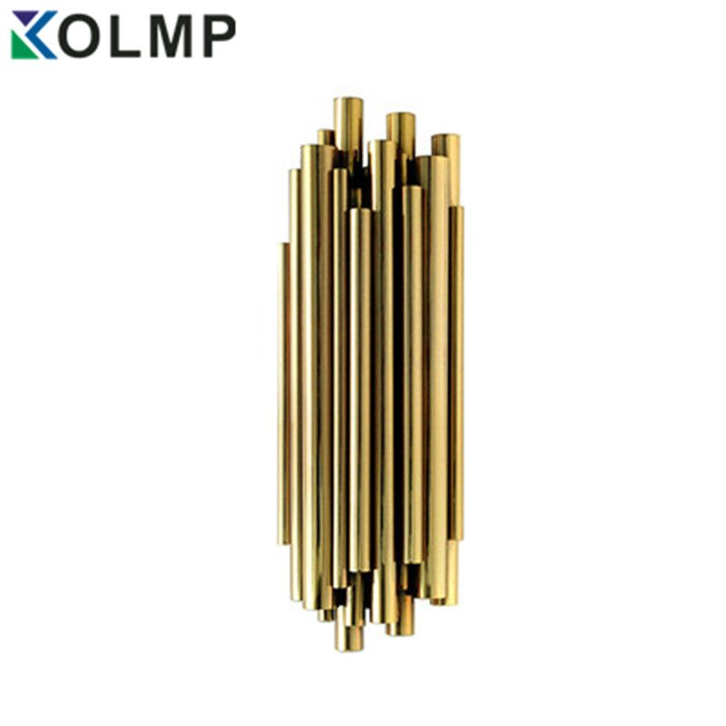 Post-Modernes Design brubeck Wand Scone Lampe für Hotel/Bar/Cafe Mode Dekoration Beleuchtung Gold Aluminium rohr