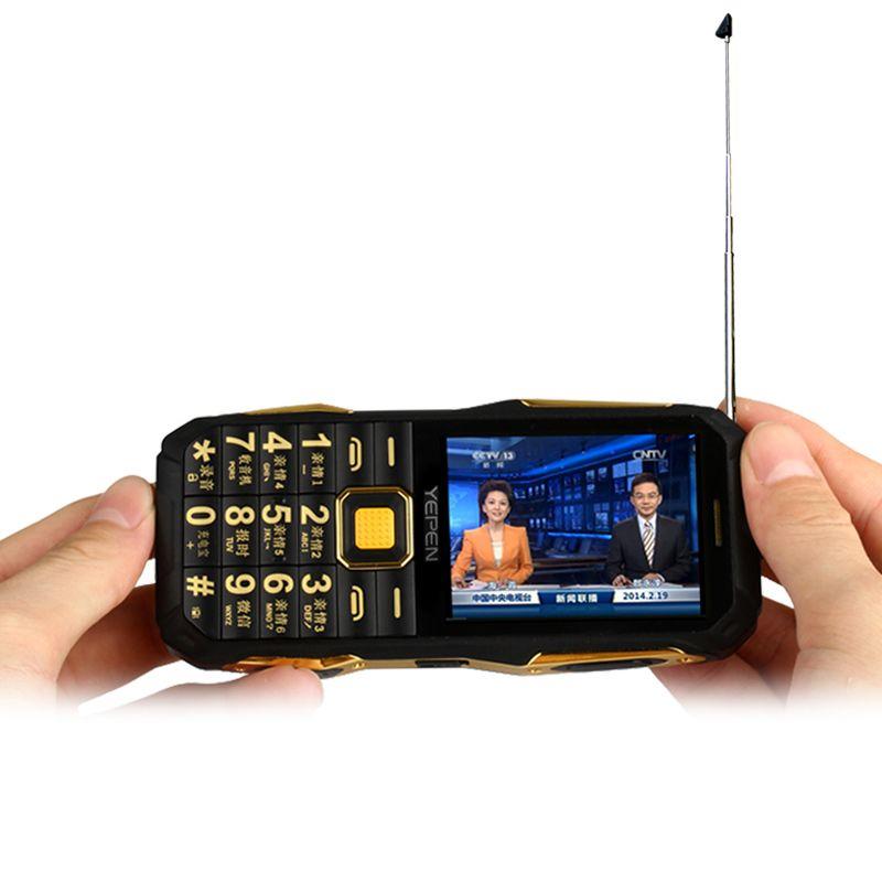 YEPEN Y698 lampe de Poche Sans Fil FM Radio 2800 mAh Longue Veille Dual SIM carte Mp3 Mp4 Puissance Banque Analogique TV Téléphone Mobile Robuste P072