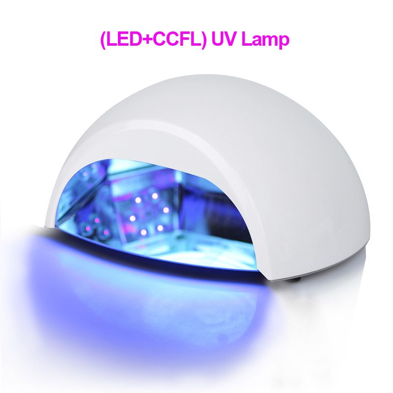 Professional 100-240V (LED+ CCFL ) Nail UV Lamp Polish Nail Dryer Very Fast Curing Nail Tools