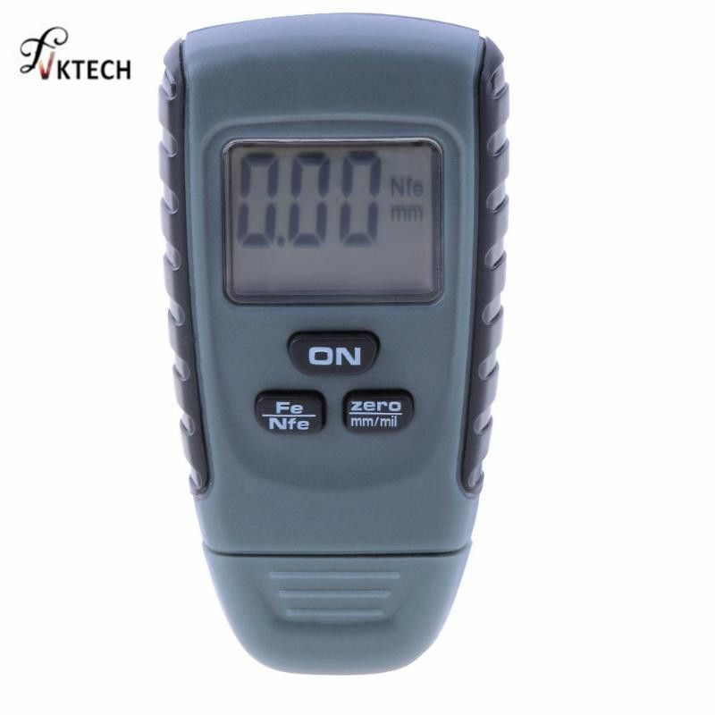 Thickness Gauge Feeler Tester Fe/NFe 0-1.25mm for Car Iron <font><b>Aluminum</b></font> Base Metal RM660 Digital Car Paint Coating Instruments