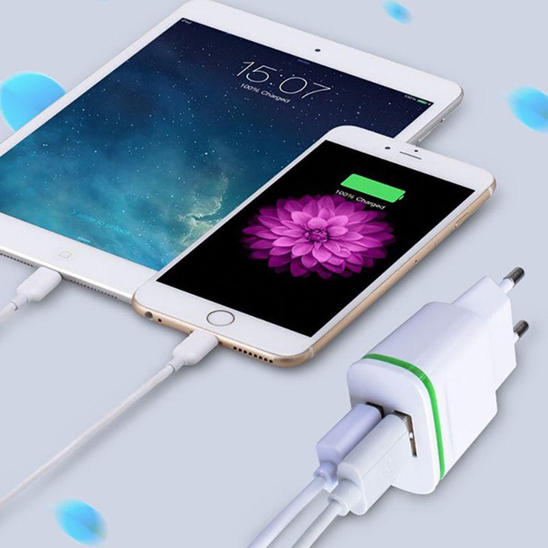 5V 2.1A Smart Travel Dual 2 USB Charger Adapter Wall Portable EU Plug Mobile Phone for LeEco Le 2 Pro 3 Standart Elite Edition