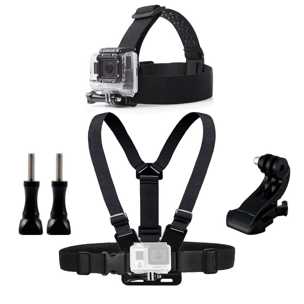 Poitrine Chef Ceinture Mont Pour Gopro Hero 5 4 accessoires Ensemble SJCAM SJ4000 D'action Caméra Go pro J mont pour Harnais de Tête sangle